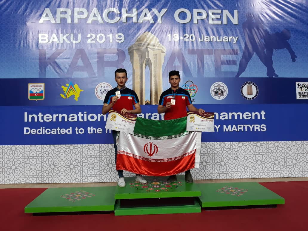 کسب دو مدال رنگارنگ توسط کارته کاران شیرازی در باکو