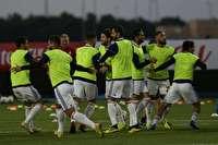 تمرین با نشاط ملی پوشان فوتبال در کریکت استادیوم ابوظبی