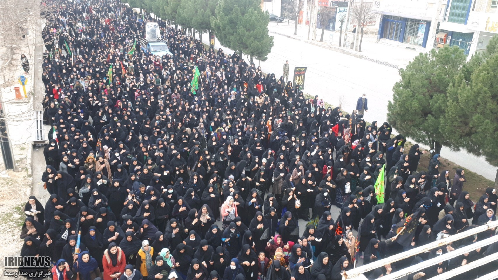 عزاداری و پیاده روی ۵ هزار نفری در یاسوج+عکس