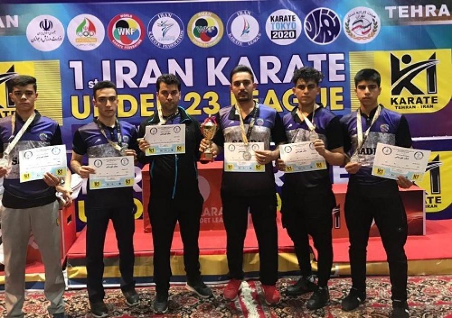 نایب قهرمانی تیم کاراته شهر صدرا در کشور