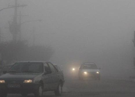 مه گرفتی شدید در محور جدید دشت ارژن به کازرون