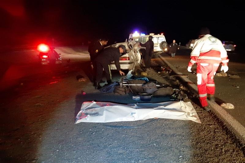 یک کشته در حادثه واژگونی پژو در محور انارک- چوپانان