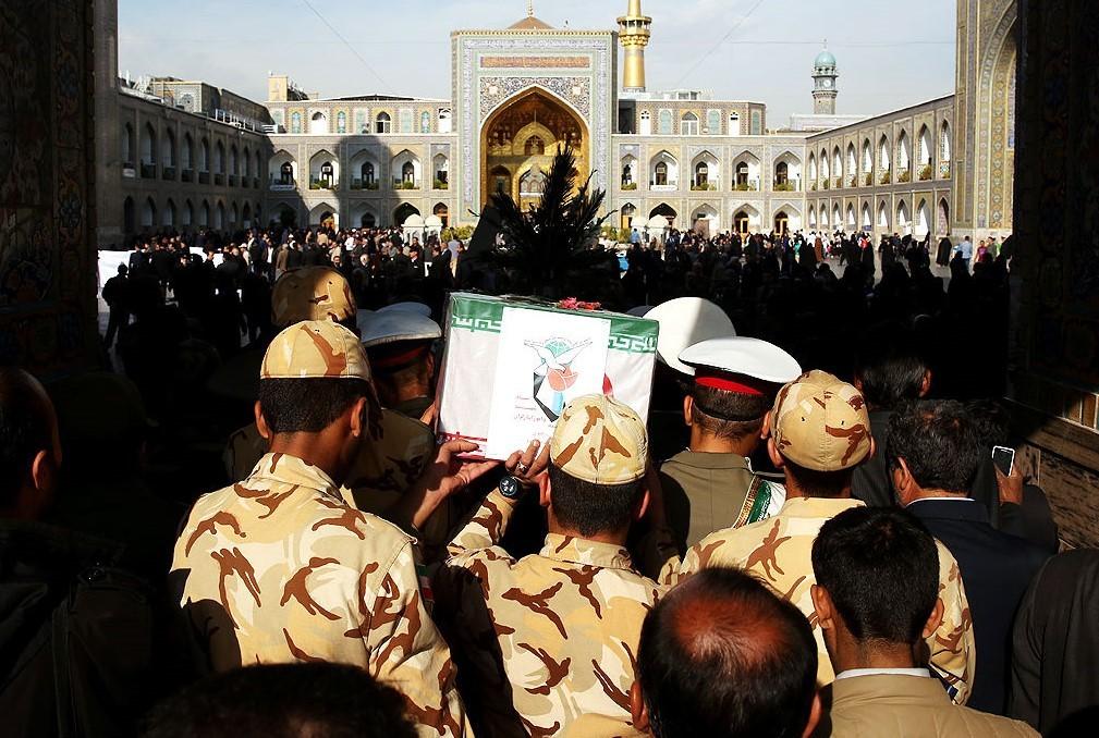 تشییع پیکر مطهر 2 شهید دفاع مقدس در مشهد