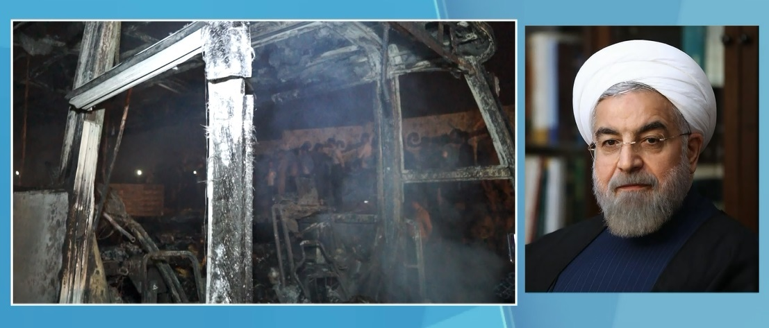 در پی حادثه تصادف اتوبوس در سنندج؛ پیام تسلیت رئیسجمهور به مردم کردستان