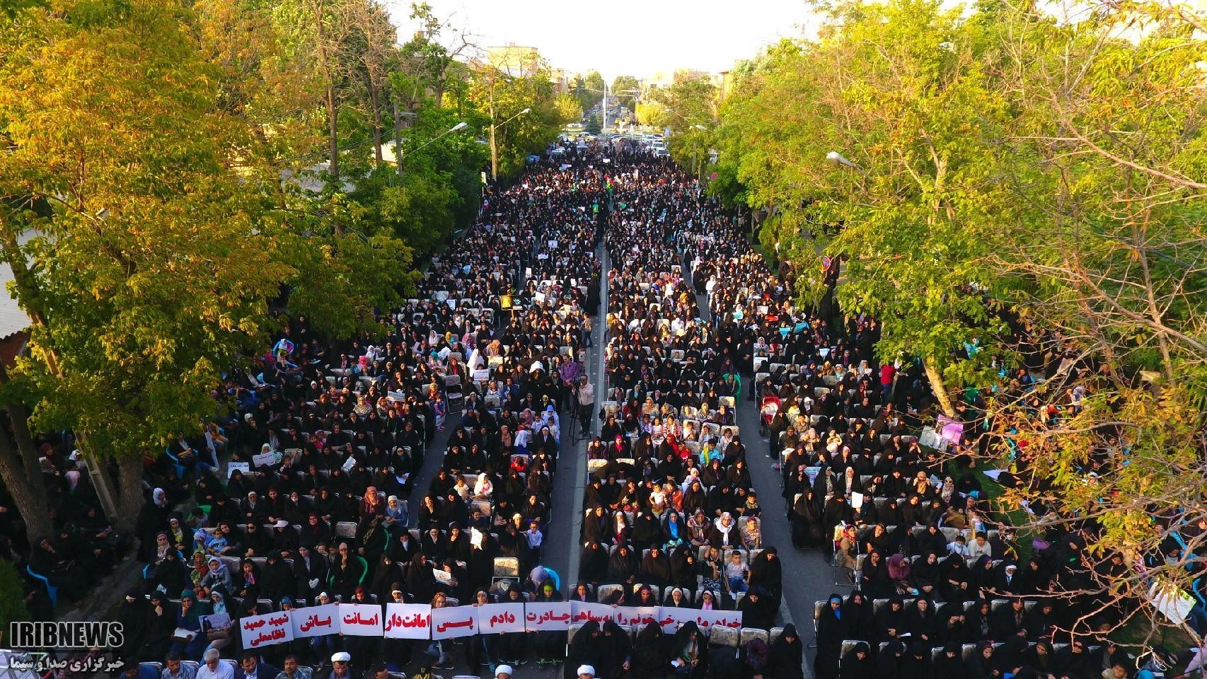 تجمع بزرگ حافظان حریم خانواده در ارومیه