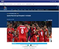 AFC: پرسپولیس قهرمانانه راهی نیمه نهایی شد