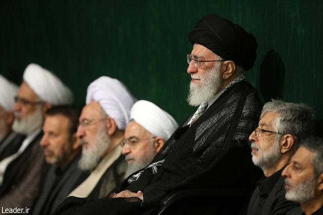 با-حضور-رهبر-معظم-انقلاب-اسلامی-و-در-حسینیه-امام-خمینی(ره)؛-مراسم-عزاداری-شب-تاسوعای-حسینی
