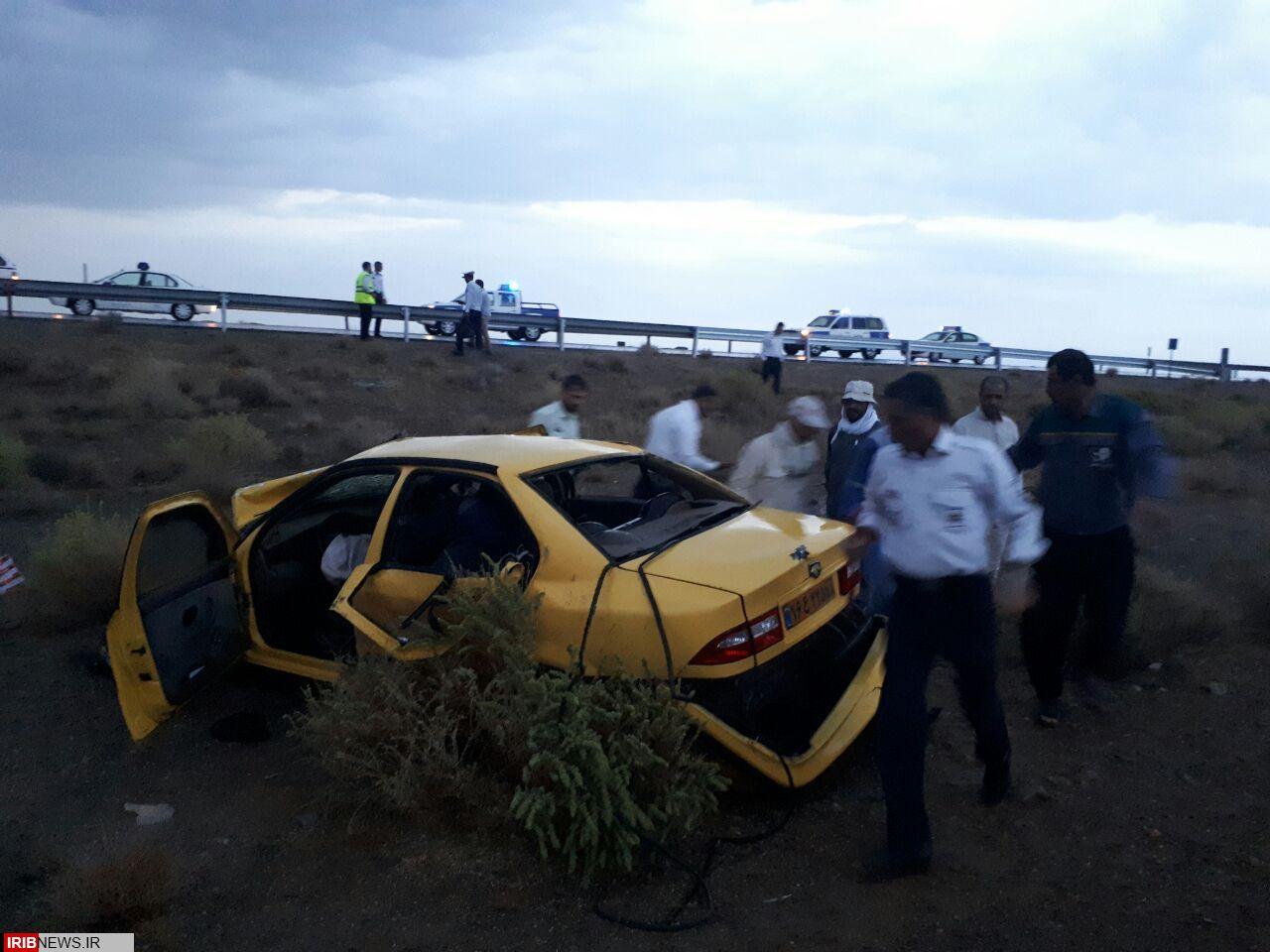 یک کشته و 3 مصدوم در حادثه رانندگی آزاد راه ساوه همدان + عکس