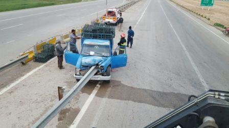 یک کشته در واژگونی خودرو در قوچان