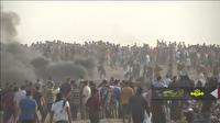 حمله نظامیان رژیم صهیونیستی به شرکت کنندگان در راهپيمايي بازگشت برزگ