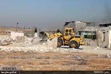 تخریب 8 ساخت وساز غیر مجاز در ورامین