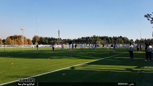 تمرین تیم ملی فوتبال با طعم تولد