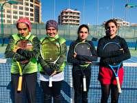 قهرمانی دختران تنیسور ایران در غرب آسیا