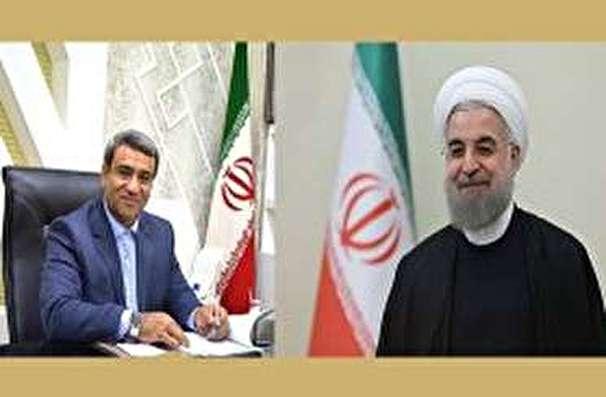 دیدار مدیر عامل سازمان منطقه آزاد کیش با رئیس جمهور
