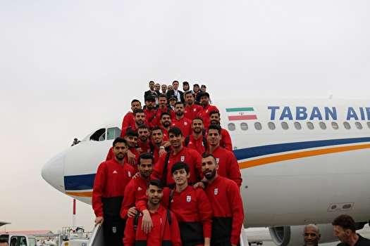 تیم ملی فوتبال وارد قطر شد