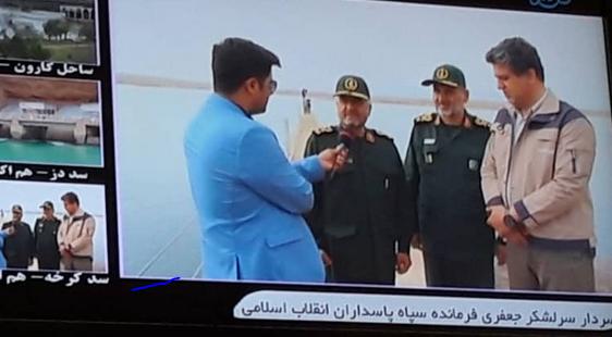 بازدیدفرمانده کل سپاه پاسداران از سد کرخه