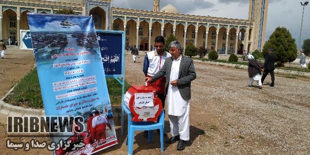 استقرار صندوق جمع آوری کمکهای مردمی برای سیل زدگان در خواف