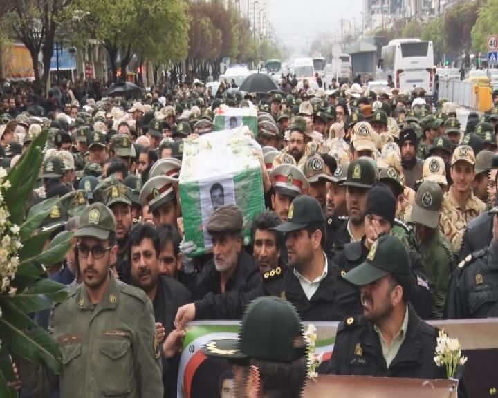 تشییع پیکر دو شهید ناجا در مشهد