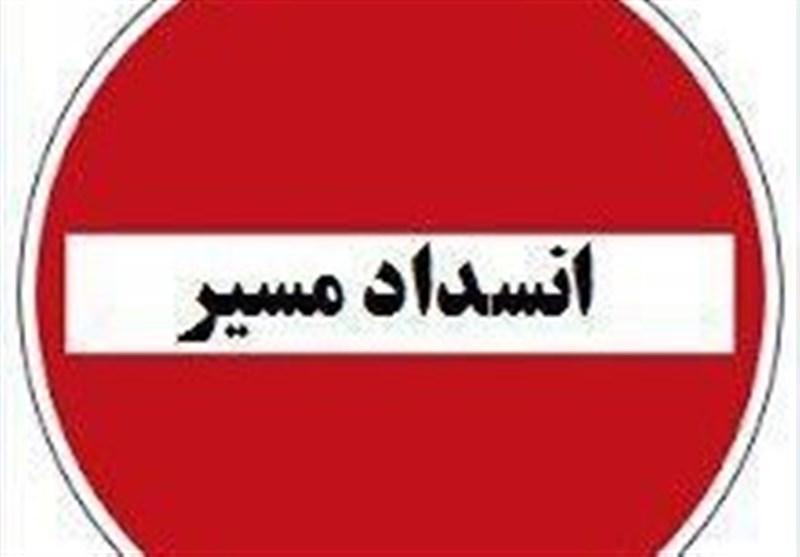 مسدود شدن دو مسیر در شمال فارس