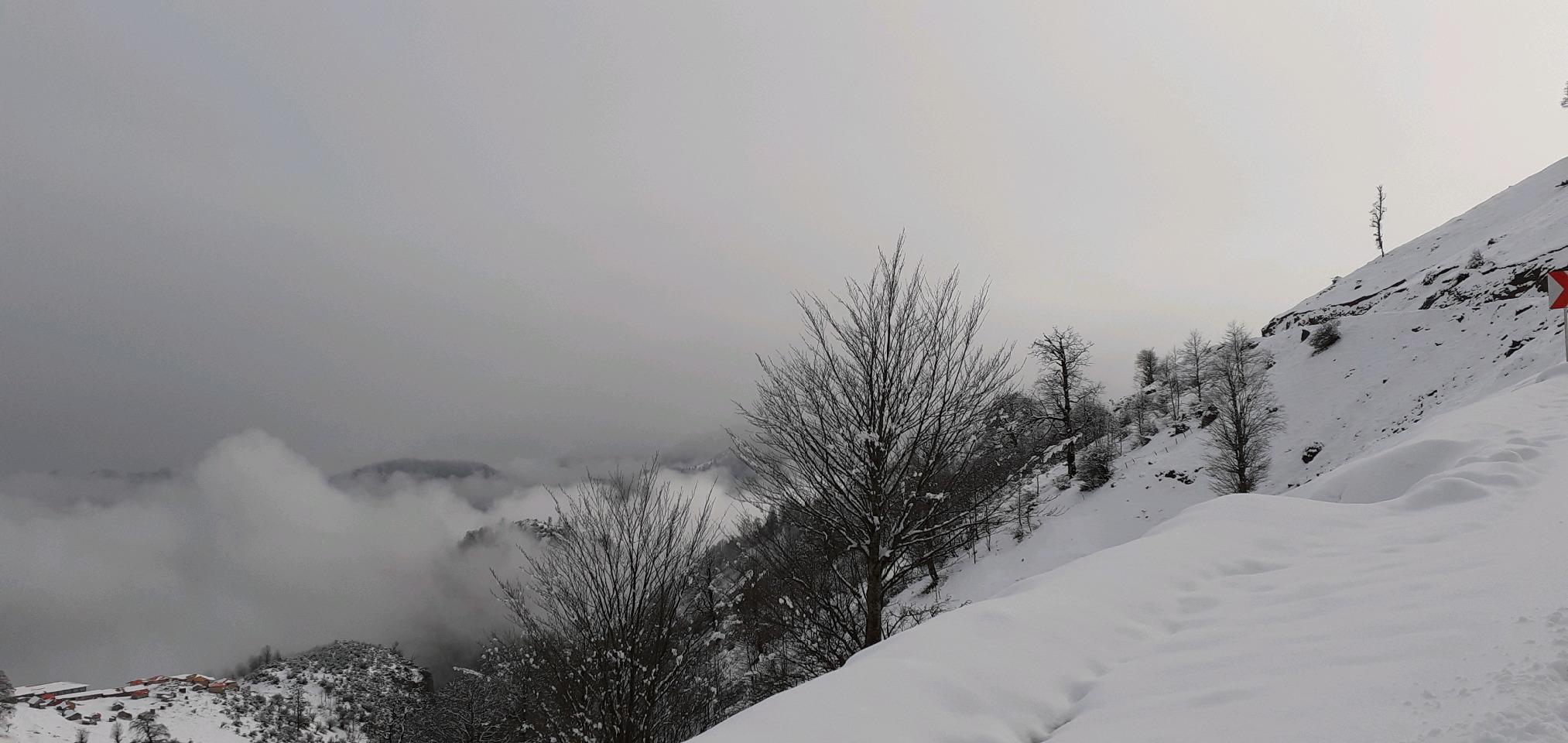 بارش برف در گیلان