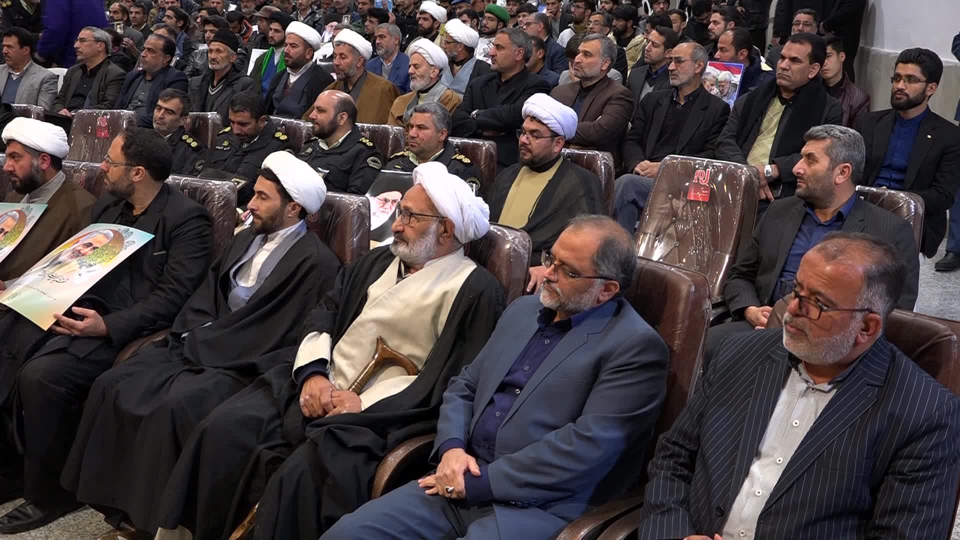 مراسم یادبود هفتمین روز شهادت سپهبد حاج قاسم سلیمانی در بیرجند