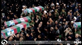 قدردانی سپاه استان از حضور مردم در تشییع پیکر شهدای سانحه هوایی