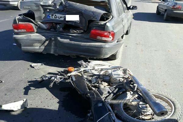 ۲ کشته و ۳ مجروح حاصل برخورد پراید با موتورسیکلت