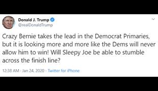 توهین ترامپ به سیاستمداران ارشد حزب دموکرات