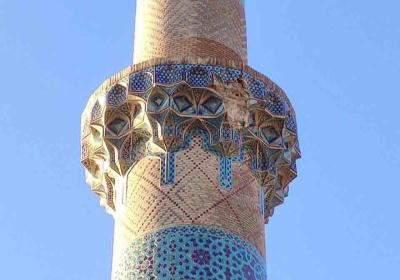 آغاز مرمت  مناره مجموعه تاریخی مسجد جامع نطنز