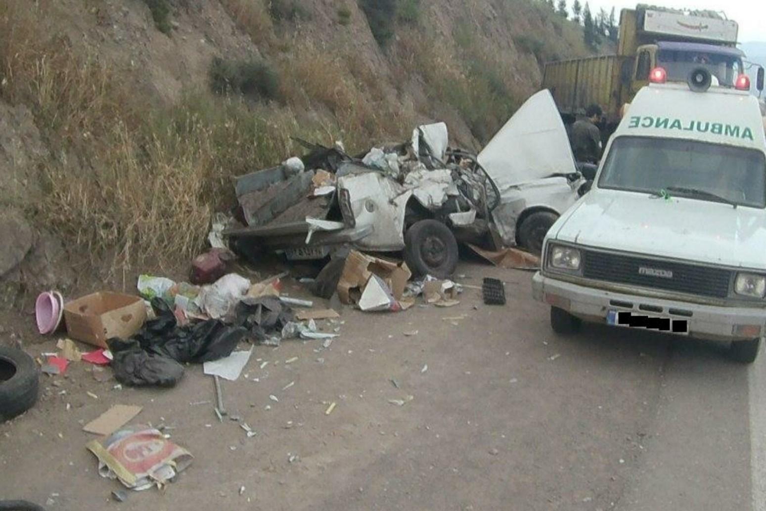 تصادف مرگبار در جاده رستمآباد - رودبار