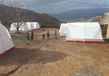 اسکان موقت 350 نفر در روستای شیرگ سربیشه