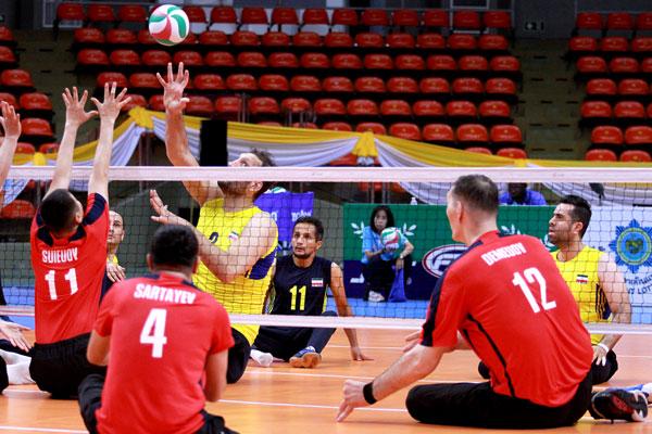 در رقابتهای قهرمانی آسیا؛ تیم قزاقستان مغلوب والیبال نشسته ایران شد