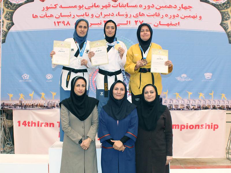 مدال های رنگارنگ تکواندو کاهای گیلانی در مسابقات کشوری