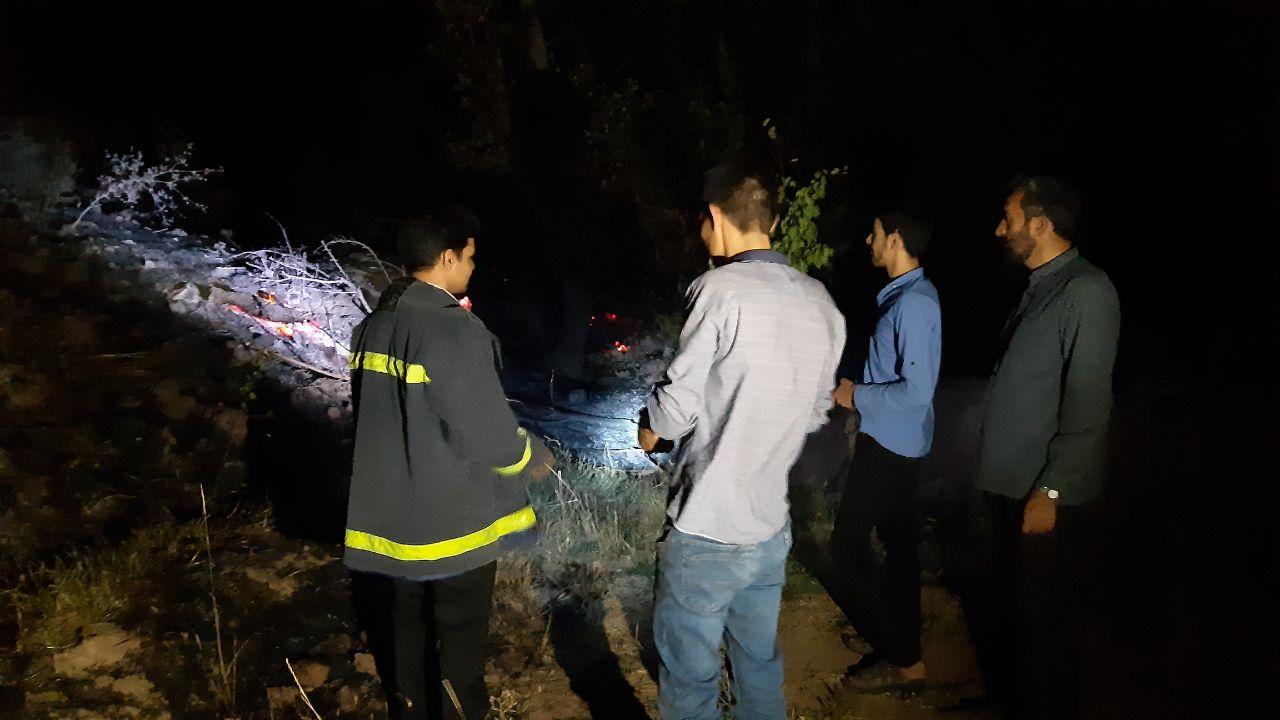 آتش سوزی در 8 هکتار از مزارع و باغ های روستای افغو بخش اسلامیه