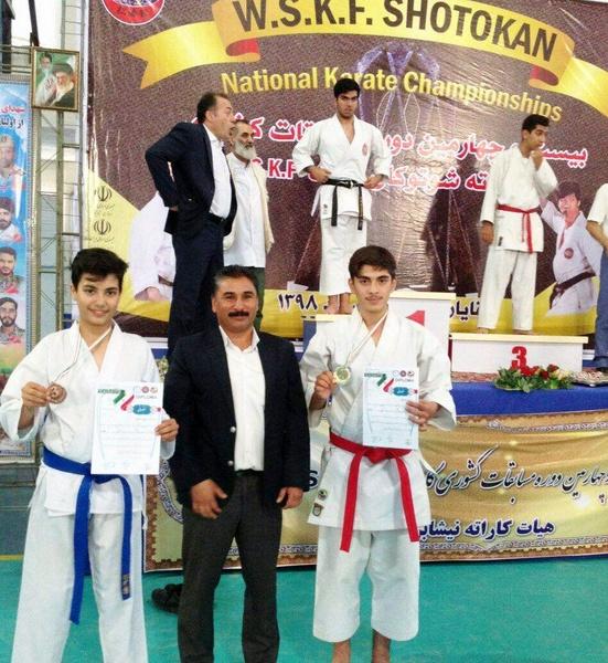 2 طلا حاصل کار کاراته کاهای تربت حیدریه در مسابقات بین المللی
