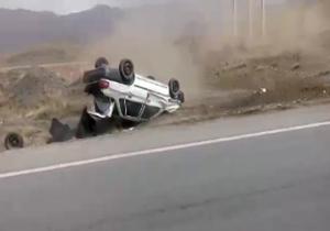 دو کشته در واژگونی پراید در جاده تایباد به باخرز