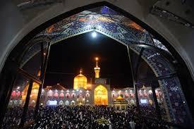 به سوگ نشستن حرم رضوی در شب تاسوعای حسینی