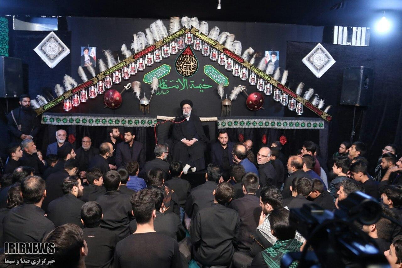 رئیس قوه قضائیه در خیمه الانتظار مشهد مقدس