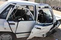 2 مصدوم در تصادف کامیون و پرایدها در دامغان