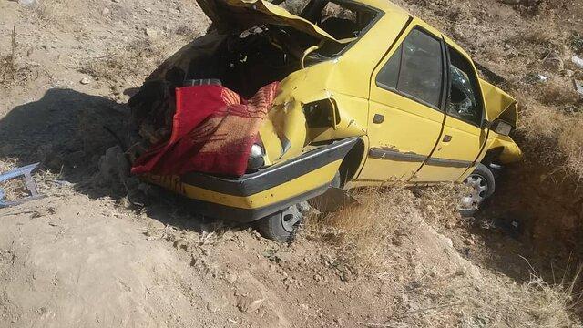 یک کشته و 3مصدوم در پی واژگونی تاکسی زرد در محور یاسوج-اصفهان