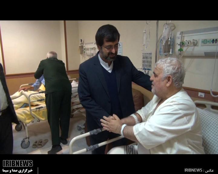 عیادت از حاج اژدر محمدی دوست جانباز دفاع مقدس
