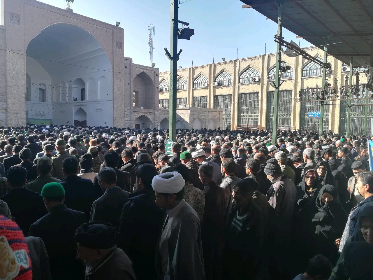 تشییع پیکر شهید سید علی رضوی در بیرجند