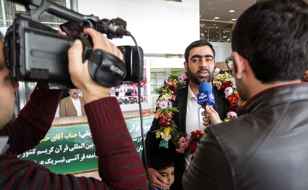 حسین پورکویر مقام دوم مسابقات قرآن تونس را کسب کرد