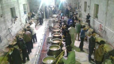 لغو پخت آیین سنتی حلیم نذری شهر گلشهر گلپایگان