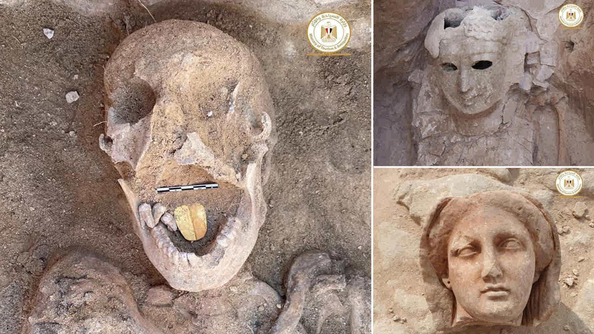 کشف مومیاییهای زبان طلایی در مصر