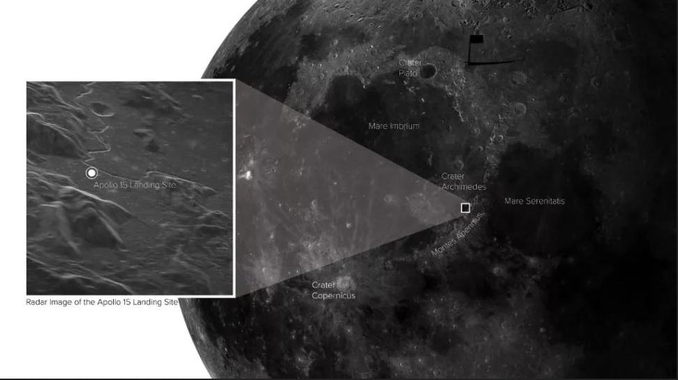 تصویر جالب از محل فرود آپولو ۱۵