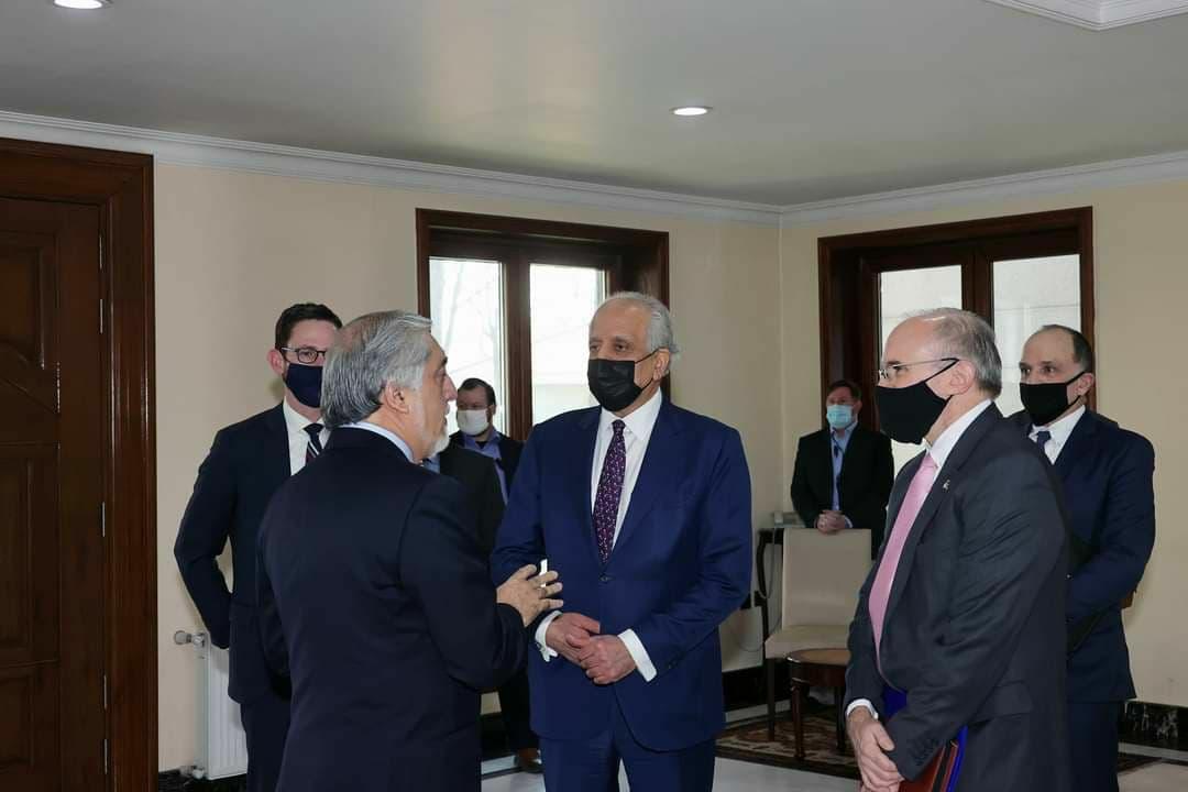 دیدار خلیلزاد و عبدالله در سالگرد توافق آمریکا با طالبان
