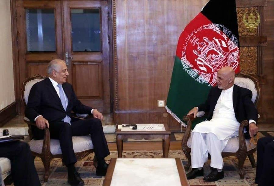 رایزنی خلیلزاد و اشرف غنی درخصوص روند صلح افغانستان