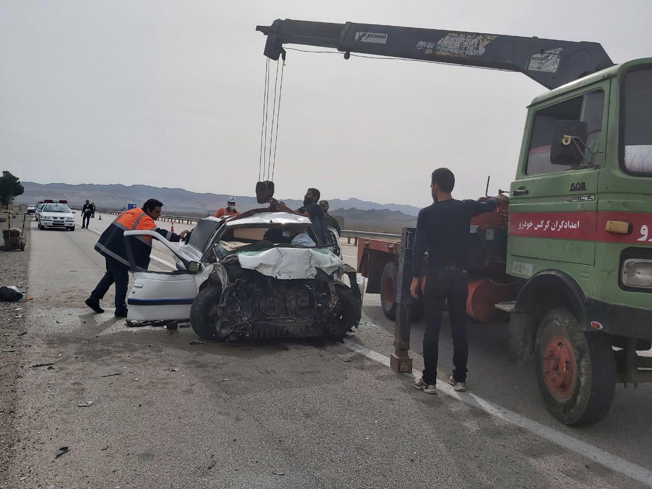 دو کشته و دو مصدوم  در آزاد راه نطنز –اصفهان