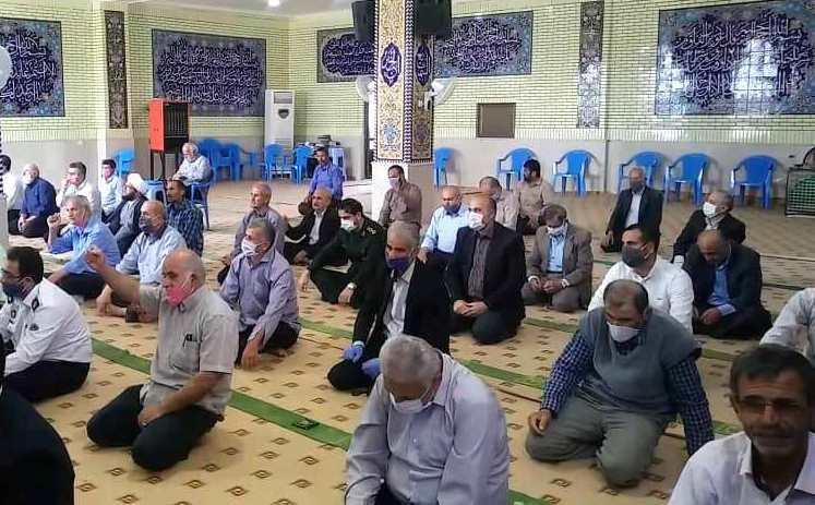 تجمع نمازگزاران بعد از اقامه نماز جمعه در دفاع از قدس